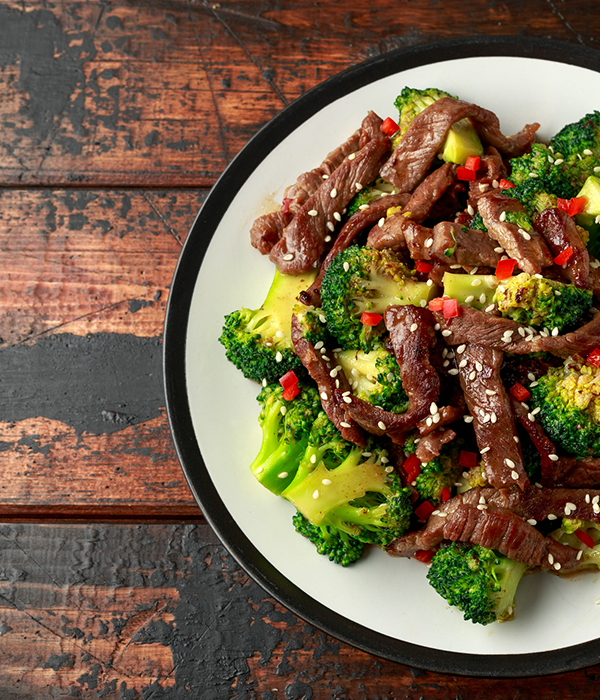 ginger beef and broccoli healthy meal